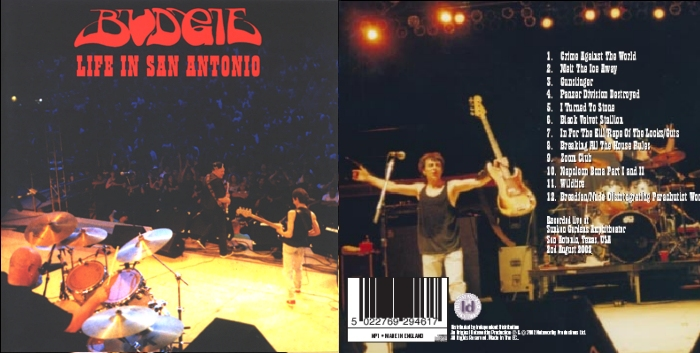 Life In San Antonio Cd Recorded 2002 The Official Budgie